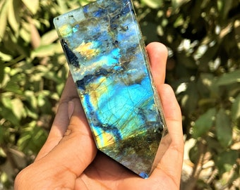 1pc 68mm Gorgeous Labradorite Tower-Crystal Point-Labradorite Obelisk-Gemstone-Energy ProtectCrystal-Healing Crystal-Chakra-Decor-Meditation