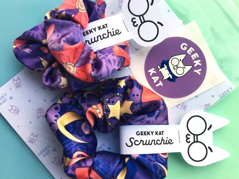 Set of Sailor Moon Limited Edition Handmade Scrunchies