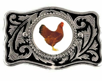 Rooster Chicken Farm Roosters Coq Fighting Animal Big Belt Buckle Buckles