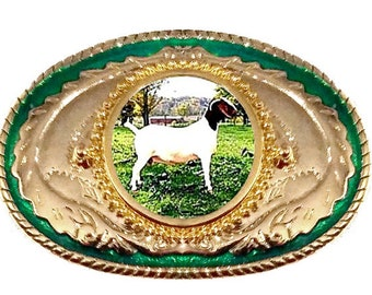Goat Nannies Bucks Billies Boer Domestic Rodeo 4H FFA Belt Buckle Made in USA