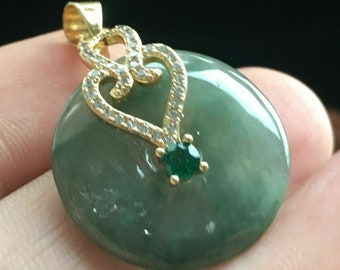 A type Jadeite Jade Certified 100/% Natural Untreated Grade A Handmade Carved Longevity Turtle\u957f\u5bff\u9f9f Pendant Necklace Burma Gemstone 9060