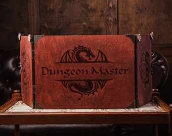 Dungeons and dragons gifts for him,Dnd gifts for dungeon master,Dungeon master screen magnetic,Dm screen dnd,Wooden dm screen,Dnd screen