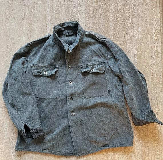 Vintage Mens 1960s Swiss Army Denim Jacket