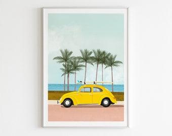 Illustration - Roadtrip surf in Ladybug
