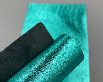 blue 10 sq ft leather shop 1.4-1.5 mm genuine leather leather hide turquoise Dakota Turquoise Cognac Leather green
