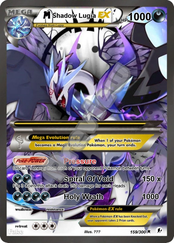 Custom Pokemon Card Shadow Lugia GX