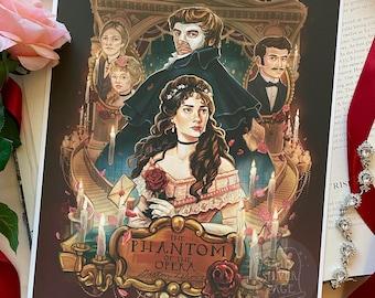 Phantom of the Opera Print 11x14