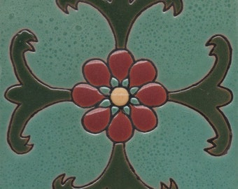 Ceramic High Relief Malibu Tiles Handcrafted - CS95 -  (you select the size)