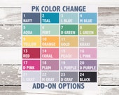 PK COLOR CHANGE Add-On (Not Applicable to Sale Items!) - One color per sheet photo