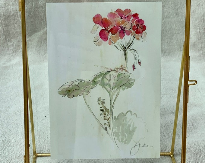 Geranium - Old-year Watercolor Printing