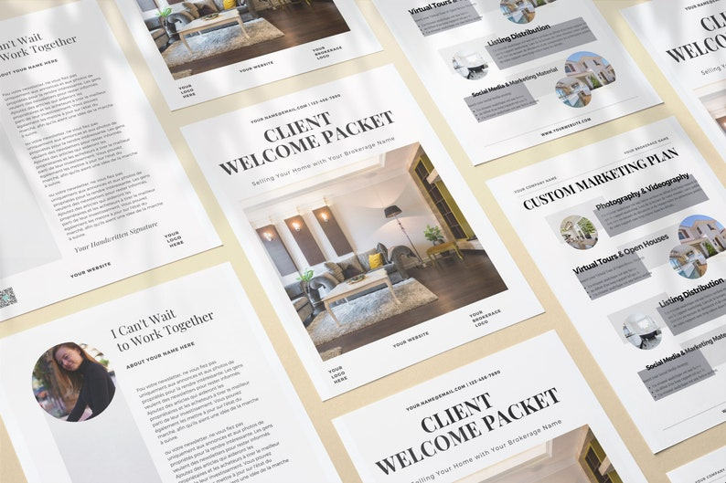 Real Estate New Client Packet Real Estate Template Canva image 0