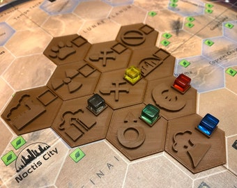 11 special tiles for Terraforming Mars boardgame - set contains pieces with symbols on both sides!