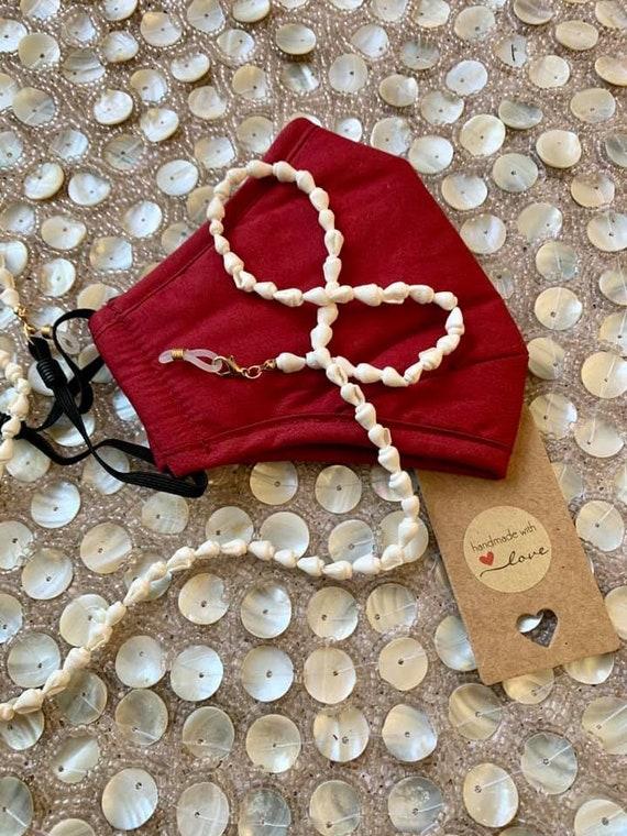 Seashell Mask Saver kids beaded necklace