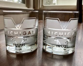 University of Michigan Rocks Glasses