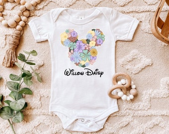 Mickey Shirt Unisex Disney Shirt Personalized Onesie \u00ae Funny Newborn Baby Minnie Pregnancy Reveal Baby Onesie \u00ae Mickey Love Shirt