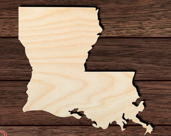 Wall Art Wall Hanging Home Decor Unfinished and Available from 2 to 42 Inches Wooden Cut Out Wooden shape georgia Home State