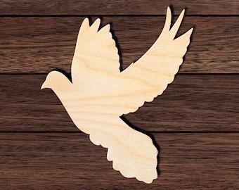 7cm Wood Bird Craft Blanks Embellishments Decoration Gift Decoupage MG000855 Wooden Dove Shape