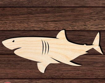 D.I.Y Great for Crafting Projects Shark Tooth Wooden Laser Cut Out Shape Hobbyist