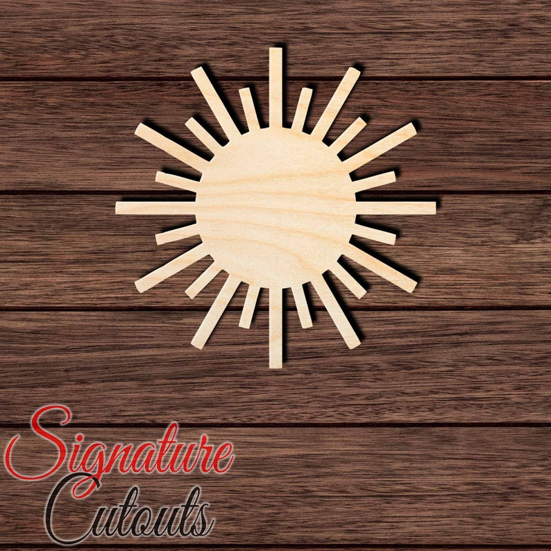 Home /& Room D\u00e9cor Sun 003 Unfinished Wooden Cutout for Crafting Many Sizes Available and other DIY projects