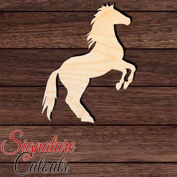 Horse 011 Unfinished Wooden Cutout for Crafting Many Sizes Available and other DIY projects Home /& Room D\u00e9cor