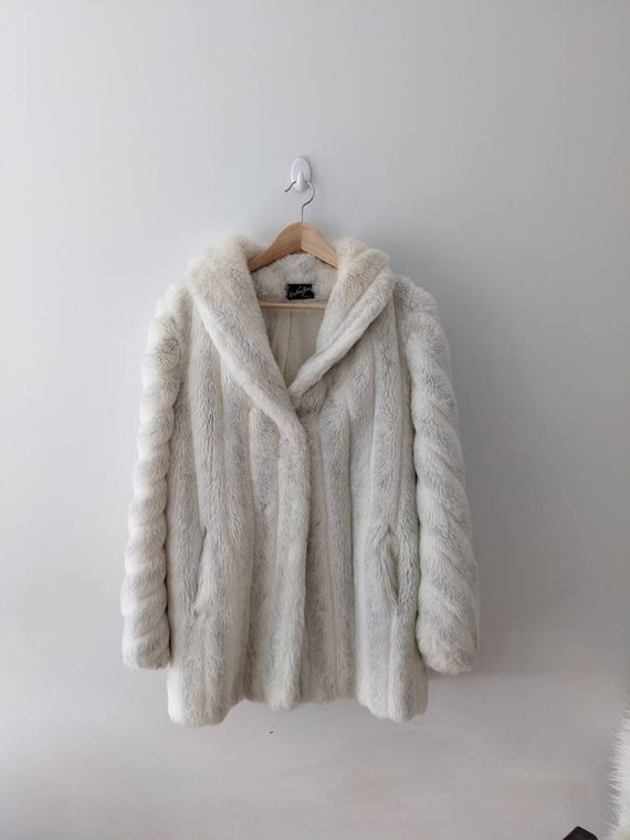 Faux Fur White Coat  - Miss New Yorker