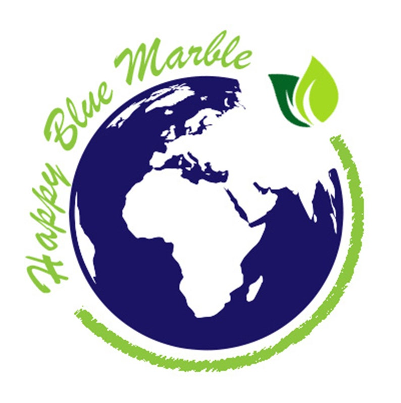 Vegan Tote Bag Happy Blue Marble Vegan Gift Eat Fruit Not Friends Organic Tote Bag Gift for Vegan Eco Friendly Gift Vegan