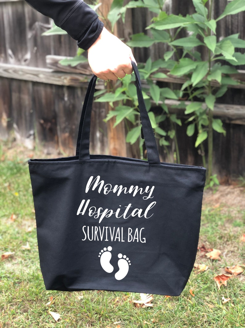 Pregnancy Gift Personalized Mommy Hospital Survival  Bag Gift for Mom Diaper Bag New Mom Gift Best Baby Shower Gift Mothers Day Gift