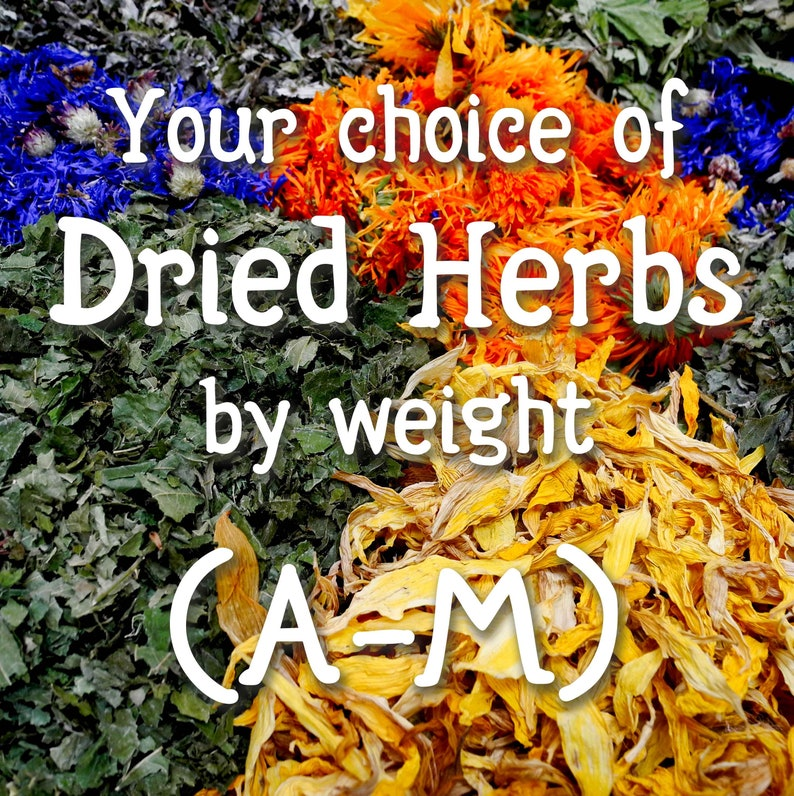 Your choice of dried herbs & resins A through M image 1