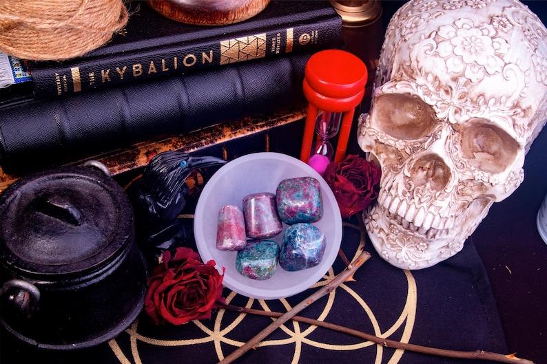 Ruby Kyanite Hand Polished & Tumbled Stone image 1