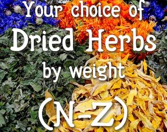 Your choice of dried herbs & resins (N through Z)