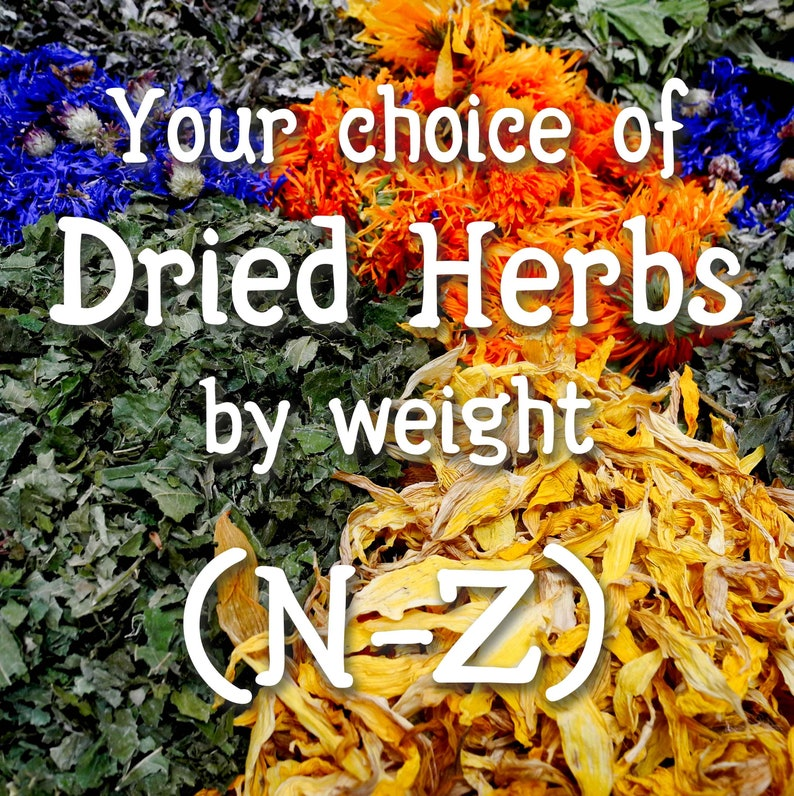 Your choice of dried herbs & resins N through Z image 1
