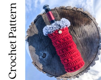 Wine Bottle Sweater Crochet Pattern, Wine Cozy, Crochet Gift, Easy Crochet Pattern