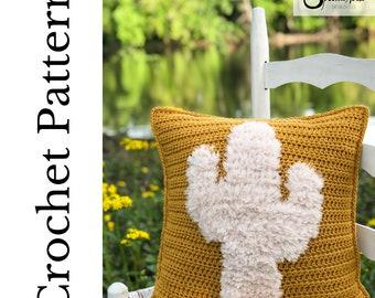Crochet Cactus Pillow Pattern- Crochet Throw Pillow Pattern- Crochet Pattern- Crochet Pillow- Cactus Decor- Cactus Pillow- Cactus Home Decor