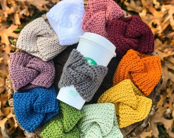 Starbuck's Cup Cozy, Starbucks Hot Cup, Coffee Lover, Coffee Gifts, Stocking Stuffer, Gifts for Her, Crochet Gift, Coworker Gift,