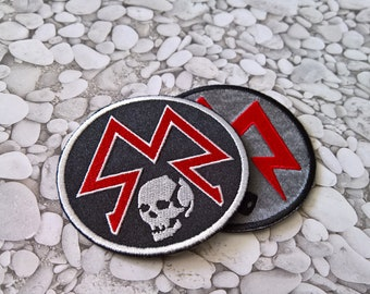 Cosplay Metro Patch Sew on Sparta patch Metro Ranger Symbol Moral patch Hook and Loop