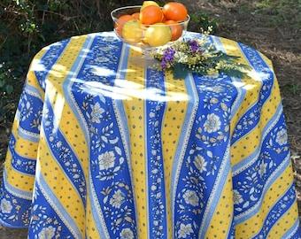 Alaïs Provençal coated cotton table