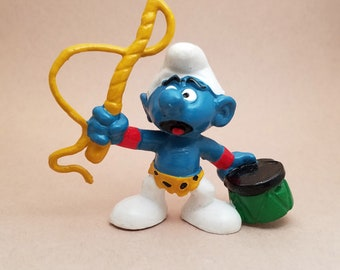 Lion Tamer Smurf 2 inch Plastic Figurine 20115