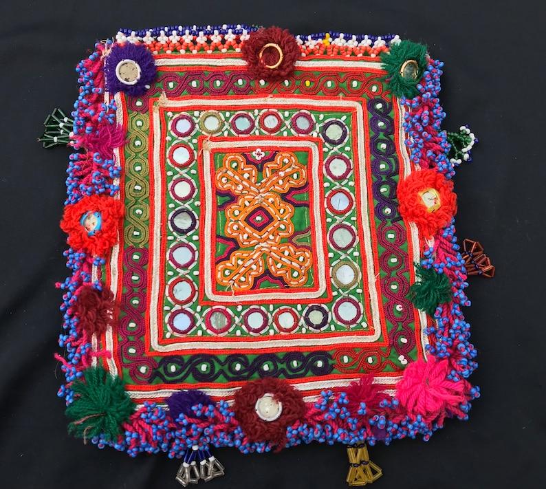 Tribal kuchi handmade vintage silk embroidery purse