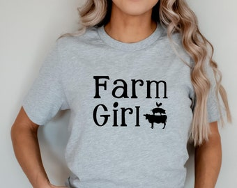 Farm Girl T-Shirt, Ranch Girl Shirt, Cowgirl Shirt, Farmer Shirt, Farmer Gifts, Summer Camp Shirt, Gift For Her, Country Girl, Ranch Tee