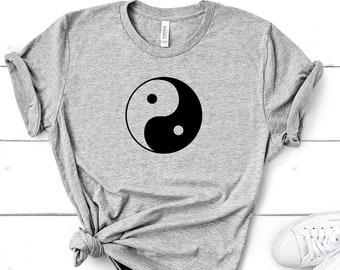 LIFE T-Shirt Japanese Kanji Symbol Mens Womens Ladies Zen Harmony Yin Yang