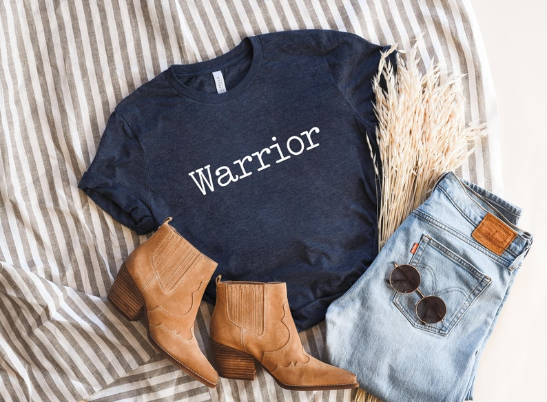 Gym Warrior Warrior T-Shirt Inspirational Shirt Cancer Survivor Shirt Positive Quote Tee Prayer Warrior Survivor Shirt