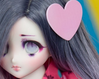 Heart shaped Hair clip set – BJD, Dollfie Dream, Smart Doll and other dolls