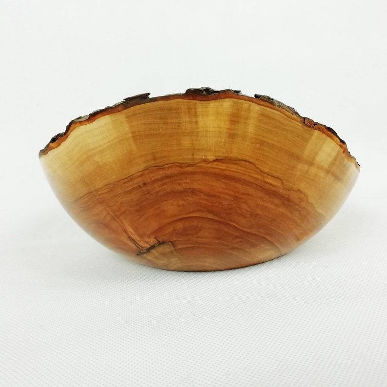 Bol en bois - bol de service - bol d'écorce de bois de pommier - bol en bois de fruit - bol décoratif - cadeau naturel - cadeau fait à la main