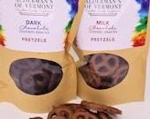 Milk or Dark Chocolate Covered Pretzels 4 oz