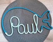Namensumrandung Wal Wollschriftzug