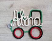 Namensumrandung Traktor