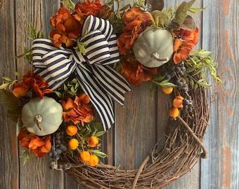 Fall Farmhouse Wreath, Autumn Farmhouse