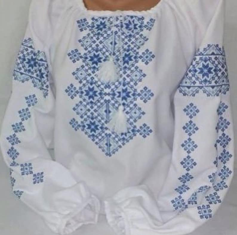 Ukrainian blouse. Vyshyvanka Gift for her Beautiful hand embroidered blouse woman Ethno Folk Blouse For Woman Stylish Women/'s Blouse