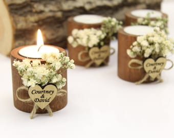 Personalized Candle Wedding Favor, Wedding Favors for Guests in Bulk, Wedding Gifts for Guests, Rustic Wedding Favors, Bridal Shower Favors