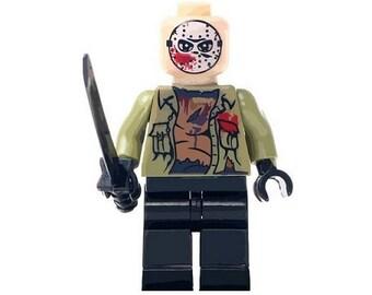 Película de terror Jason Voorhees viernes 13 figura compatible set piel LEGO